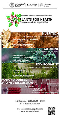 Plants for Health. Symposium flyer