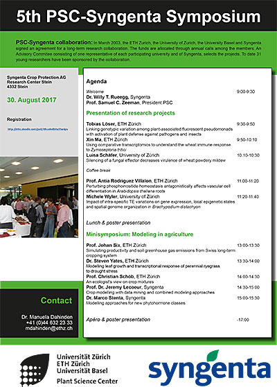 PSC-Syngenta Symposium 2017 program