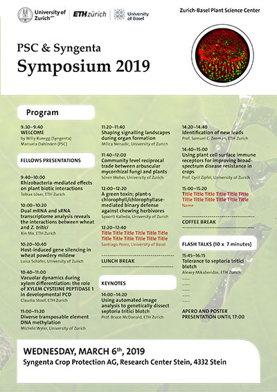 PSC-Syngenta Symposium 2019 program